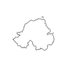 Northern Ireland Map Silhouette