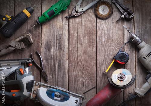 Foto op Aluminium Electric hand tools
