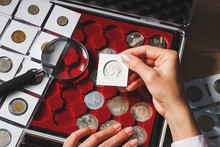 Box With Collectible Coins And...