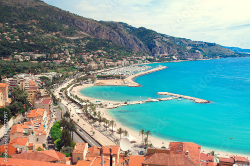 Photographie  View of Menton city