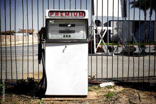 old vintage premium gas pump - Buy this stock photo and explore