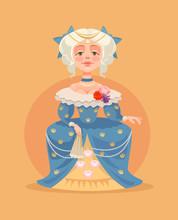 Queen Woman Character. Vector ...