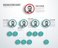 Minimalist Hierarchy Chart Wit...