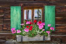 Window Of A Wooden Mountain Hu...