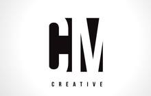 CM C M White Letter Logo Desig...