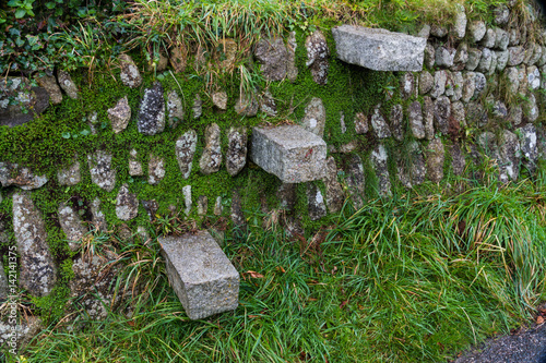 Fotografie, Obraz  Stile, style, cantilevered steps in dry stone wall