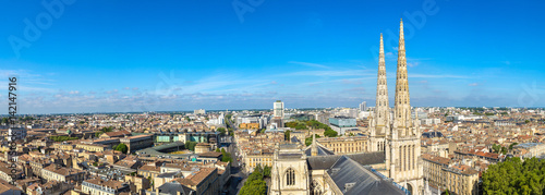 Panoramic view of Bordeaux Canvas Print