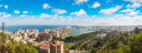 Panoramic view of Malaga Canvas Print