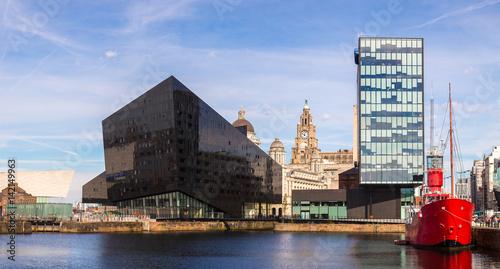 Albert Dock and Three Graces building Canvas Print
