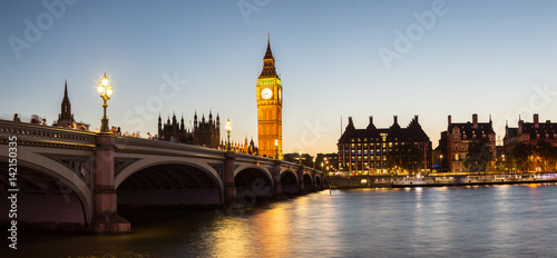 Big Ben, Parliament, Westminster bridge in London Wallpaper Mural