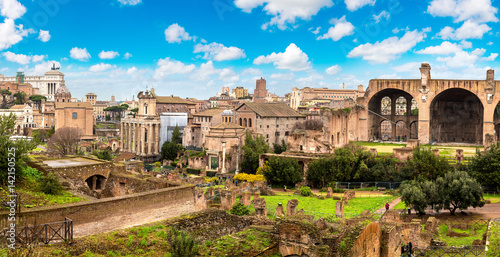 Ancient ruins of Forum in Rome Wallpaper Mural