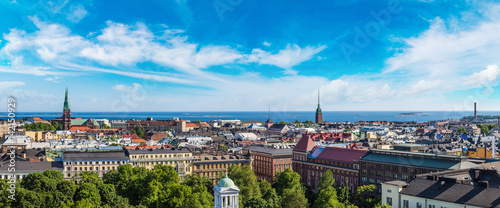 Panoramic view of Helsinki Canvas Print