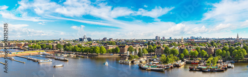 Panoramic view of Amsterdam Canvas Print
