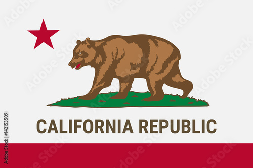 Obraz na plátne Flag of California American state. Vector illustration.