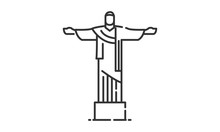Christ The Redeemer Historic Site, Christ The Redeemer Heritage Site, Christ The Redeemer Icon Vector