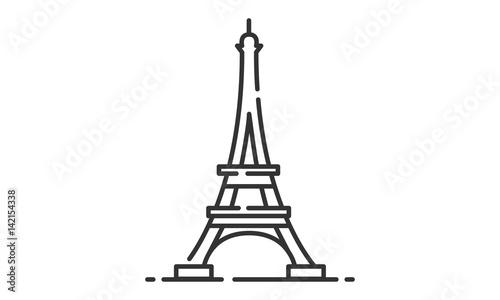 Fotografie, Obraz Eiffel Tower historic site, Eiffel Tower heritage site, Eiffel Tower icon vector