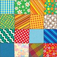 Colorful Quilt Patchwork. Vect...