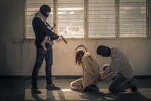 Hostage Of Terrorist Or Burgla...