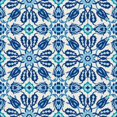 Arabesque damask vintage decor ornate seamless floral decoration print for design template vector