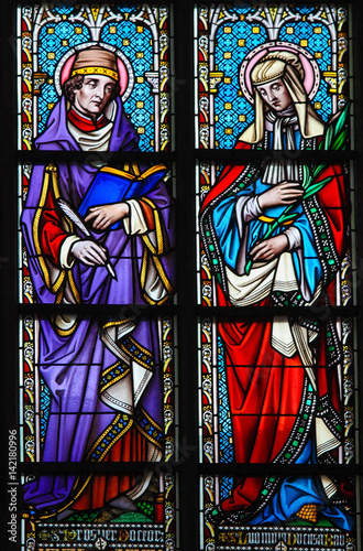 Stained Glass - Saint Prosper and Ludmilla Poster Mural XXL