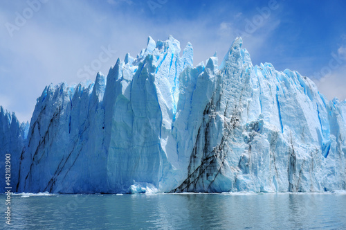Perito Moreno Glacier, the most beautiful glaciers in the world. Located in Patagonia, Argentina. Travel Destination. Global Warming.