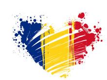 Grunge Romania Flag