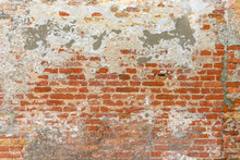 Old Brick Wall Texture, Covere...