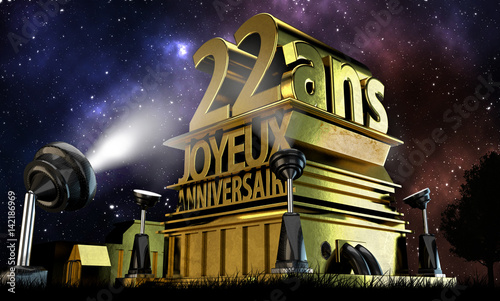 22 Ans Joyeux Anniversaire Buy This Stock Illustration And