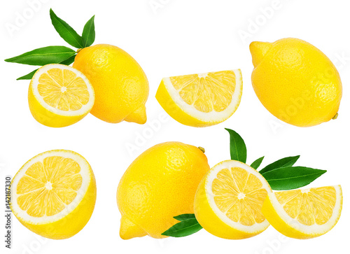 Fotografía  Fresh lemon isolated on white