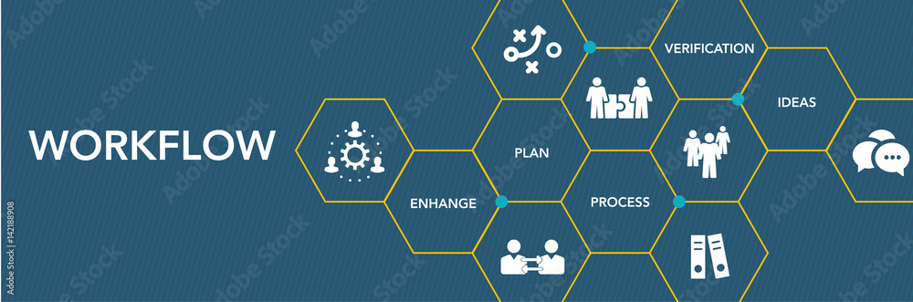 Fototapeta Workflow Icon Concept