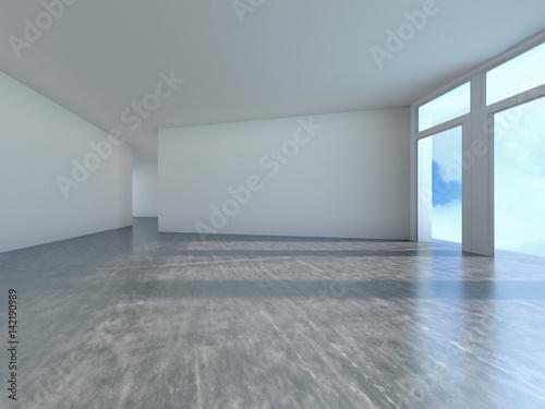 Fototapety, obrazy: Empty room with window shadow