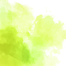 Green Watercolor Background Ve...
