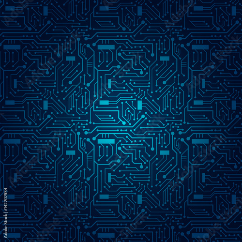 Fotografie, Obraz  Circuit Board Background (blue)