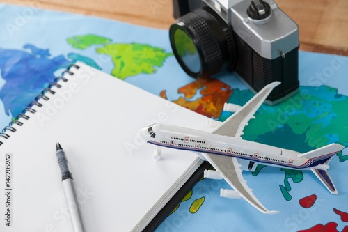 Fotografie, Tablou  Holiday and tourism conceptual image with travel accessories