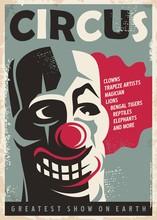 Retro Circus Poster Design Tem...