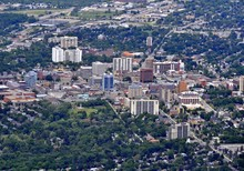 Aerial View Of  The Downtown A...
