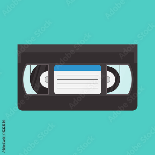 Fotografija VHS cassette vector illustration in a flat style