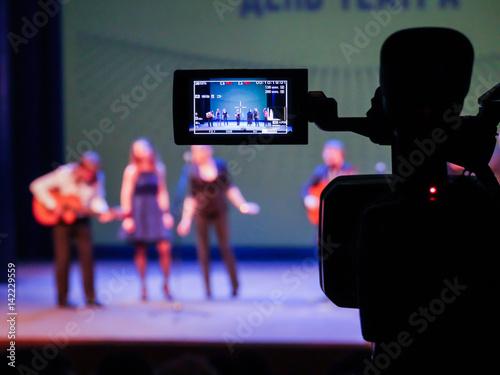 Fototapeta  Shooting concert video
