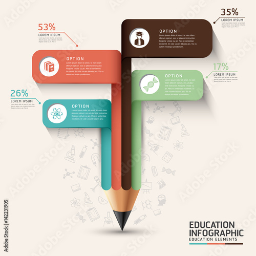 Photo  Vector - Education infographic concept