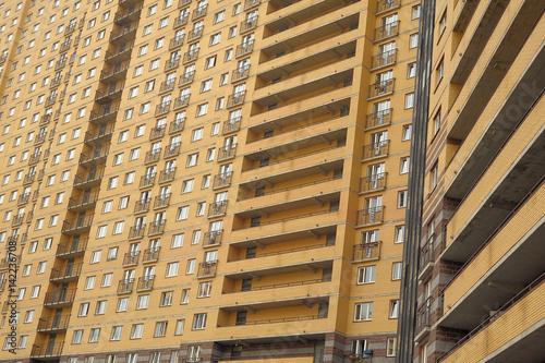 Photo  Facade of a modern high-rise building