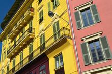 Nice Façades Colorées, Place Massena Et Promenade Du Paillon