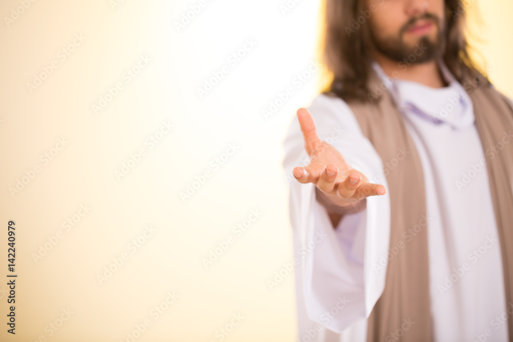 Fototapety, obrazy: Messiah reaching out his hand
