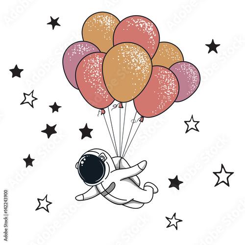 lecacy-astronauta-z-balonami-na-bialym-tle