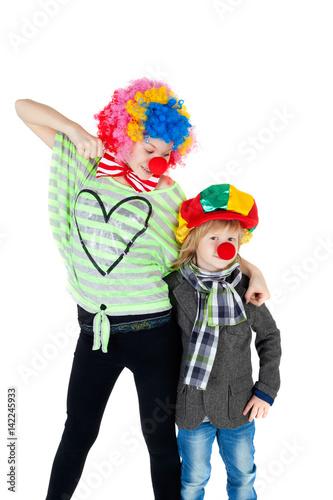 In de dag Regenboog Clowns