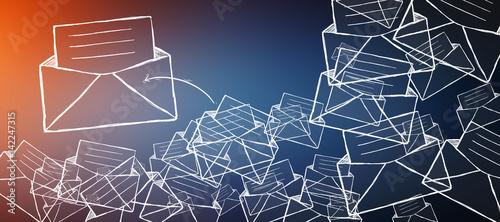Hand drawn email icon illustration