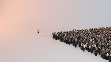 Single Woman Leading Group Of ...