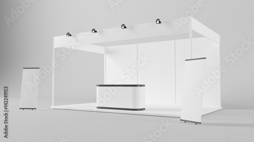 Obraz na plátne White creative exhibition stand design