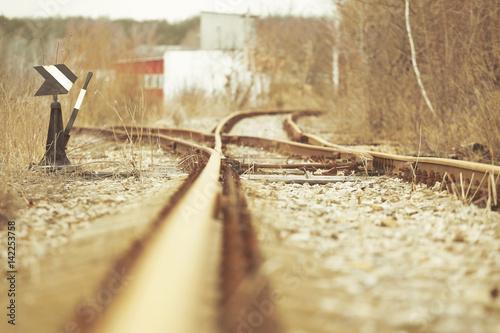 Manual railroad switch