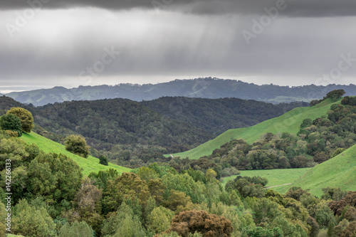 Rainy Clouds at Briones Regional Park. Contra Costa County, California, USA