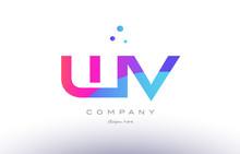 Wv W V  Creative Pink Blue Mod...